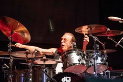Roger Earl plays drums for Foghat during a Pennsylvania concert in May. -- Steve Reinis photo - STEVE_REINIS_SANDR_IMAGES