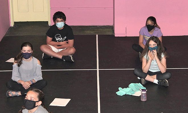 Behind the scenes and masks at RTOP Theatre. Courtesy RTOP