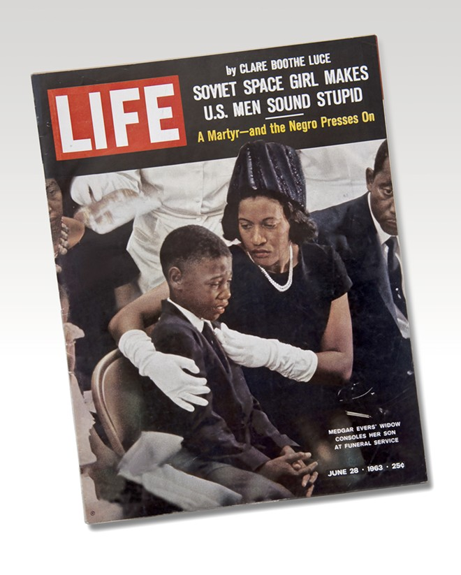 Medgar Evers Funeral, Life Magazine, June 28, 1963. From the NEH on the Road exhibition For All the World to See: Visual Culture and the Struggle for Civil Rights. 2011. - E. G. SHEMPF.