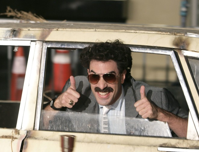 """WSU alum Ted Tremper worked on the new """"Borat"""" film which stars Sacha Baron Cohen (above) as a fictitious journalist from Kazakhstan traveling through the United States making a documentary which features real-life interactions with Americans. """"The Borat Subsequent Moviefilm"""" is set to be released Friday on Amazon Prime. - AP"""
