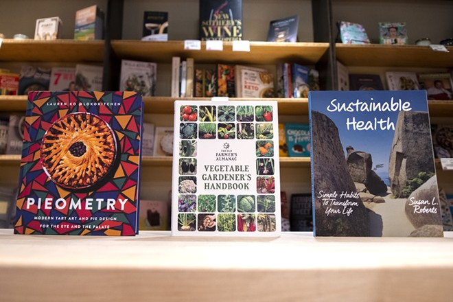Books covering baking, gardening and self-care are displayed at BookPeople of Moscow. According to owner Carol Spurling, these topics were among the most purchased during the COVID-19 pandemic. - ZACH WILKINSON/FOR INLAND 360