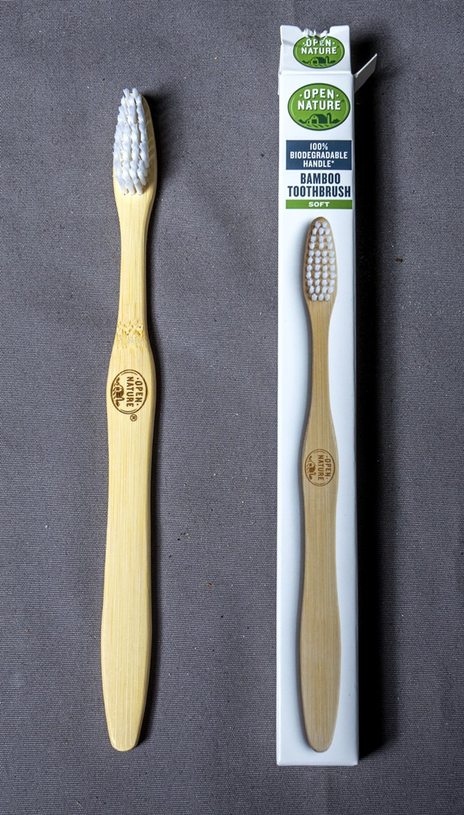 Bamboo toothbrush. - AUGUST FRANK