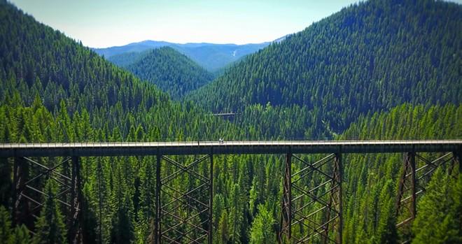 One of the Hiawatha trail's trestles