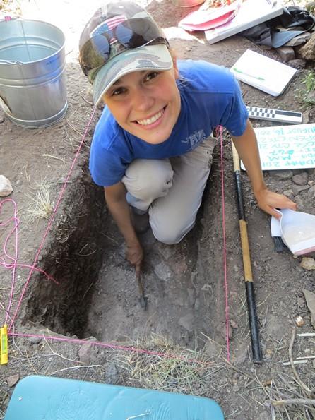 Katrina Eichner, assistant professor of anthropology at University of Idaho, at a field site in Fort Davis, Texas. - KATRINA EICHNER