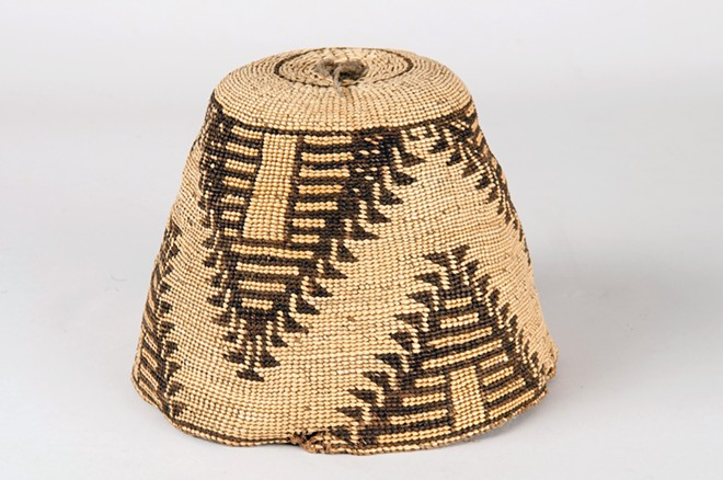 Hats are worn predominantly by women in Nez Perce culture for special occasions. This basket hat from the Spalding-Allen Collection dates to around 1820. - NEZ PERCE NATIONAL HISTORICAL PARK, SPALDING