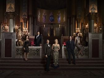 """The cast of """"Hannibal,"""" from its third season in 2015."""