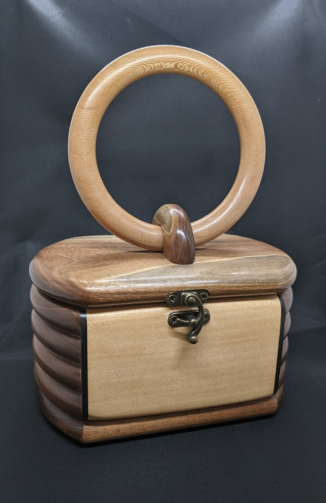A wood purse by George Canning