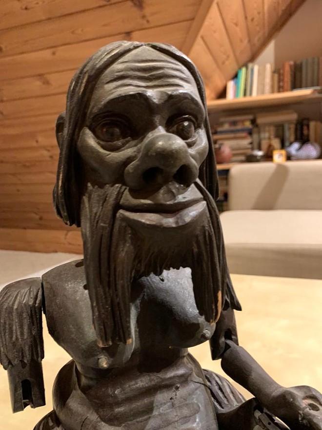 This carving of a Czech water goblin was done by Vrtelova Holbert's grandfather, Vladimir Vrtelova.