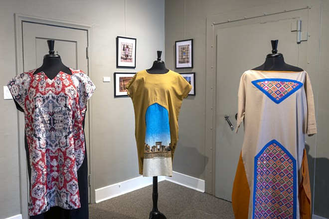 """Persian dresses are on display at the """"Persepolis: Introducing Persian Culture to the West"""" on Thursday at the Lewis-Clark State College Center for Arts & History in downtown Lewiston. The show opens on Sept. 24. - PETE CASTER/360"""