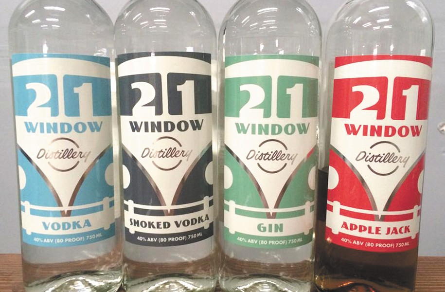 21 Window Distillery now produces four different liquors.