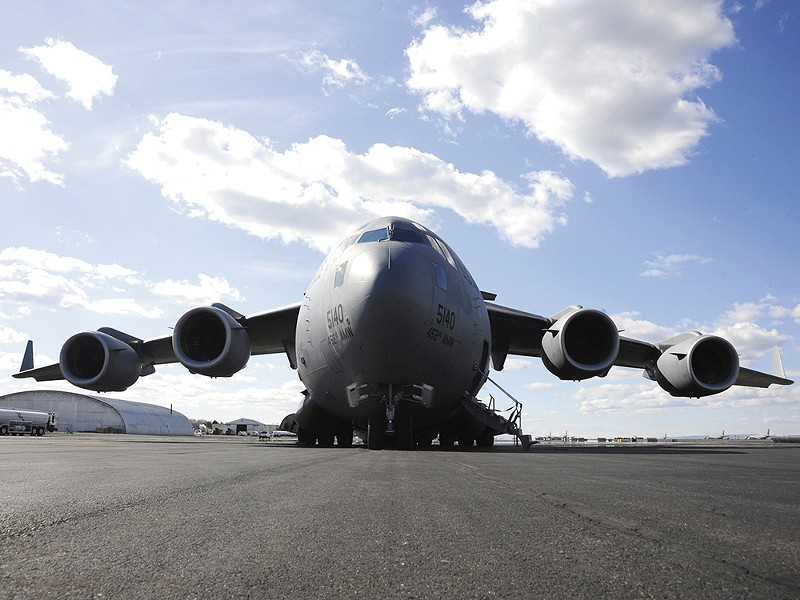 A C-17 Globemaster III at Fairchild Air Force Base. - U.S. AIR FORCE
