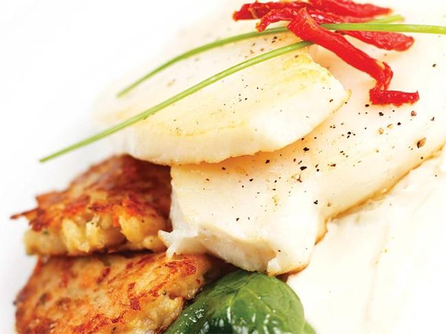 A Chilean Sea Bass dish at Masselow's - YOUNG KWAK