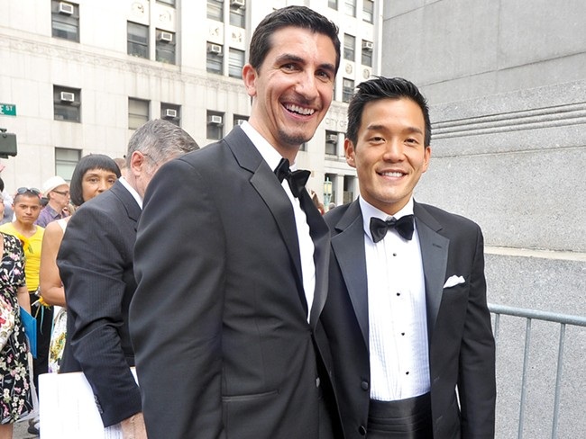 A couple getting married last year in New York - LOUIS J. LEFKOWITZ