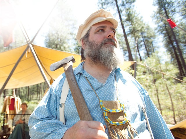 A modern-day reenactor - MARKUS BURNS