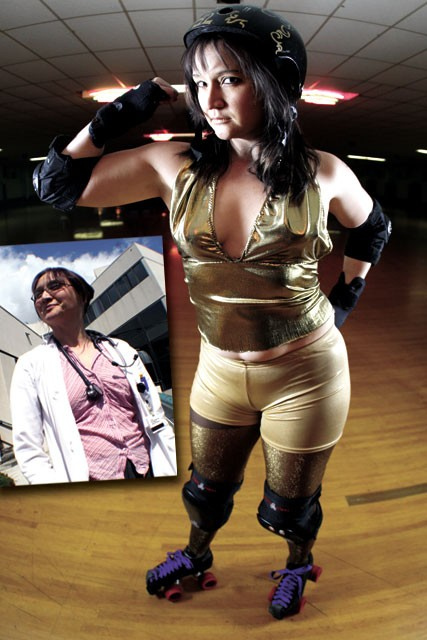 A patient helped Dr. Esther Smith unleash her inner derby girl.