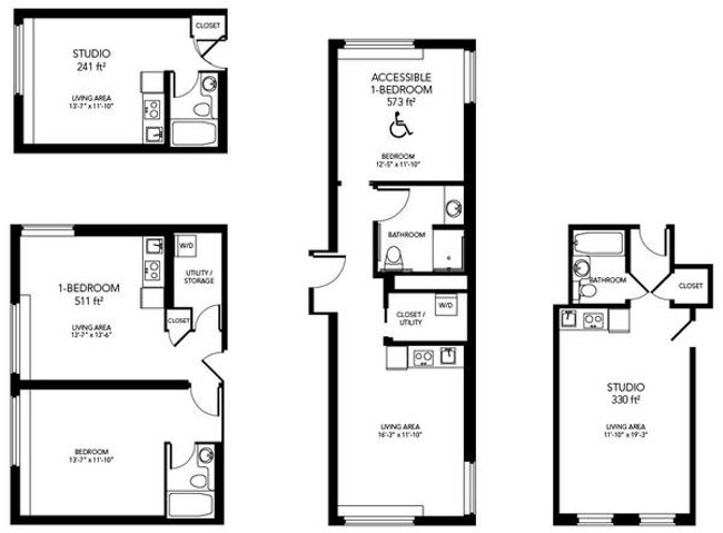 A peek at the 395 micro apartments planned for the ridpath bloglander - Planning the studio apartment floor plans ...