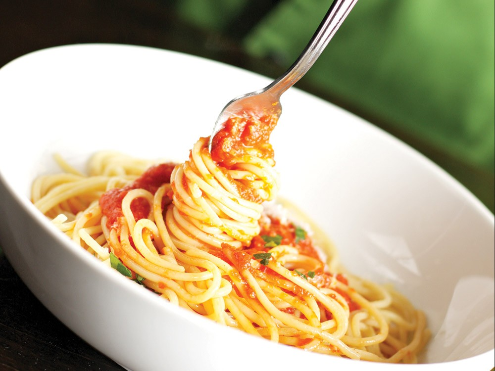 A plate of spaghetti from Italia Trattoria - YOUNG KWAK