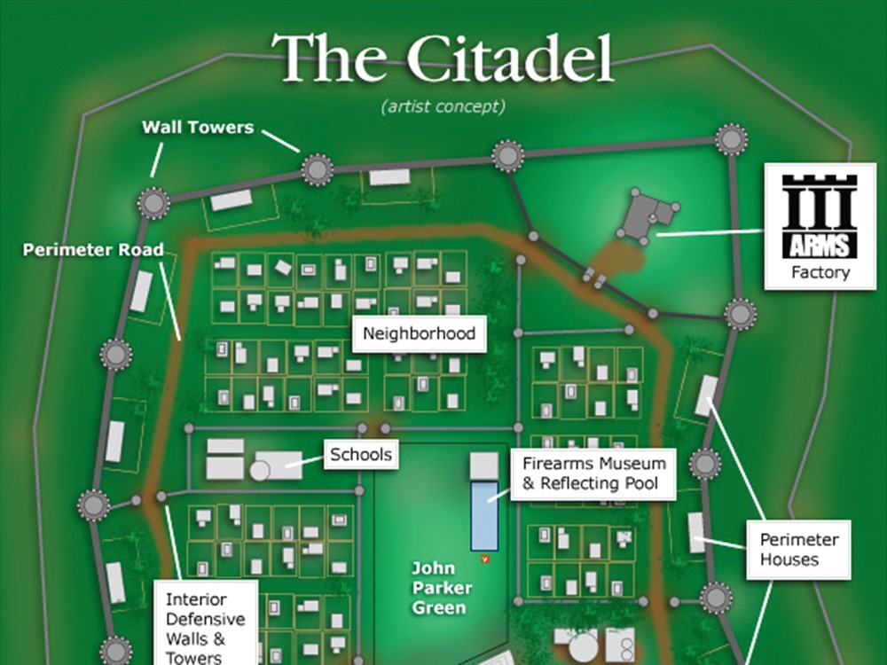A portion of an artist's rendering of the proposed Citadel, from the organizers' website