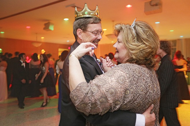 Barbara and Dave dance after being crowned honorary prom king and queen. - YOUNG KWAK