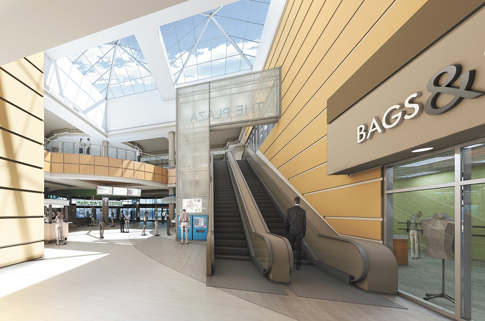 A rendering of proposed first-floor retail in the Plaza. - ALSC ARCHITECTS