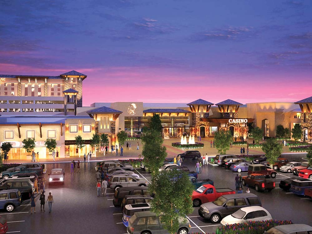 A rendering of the Spokane tribe's proposed casino in Airway Heights.
