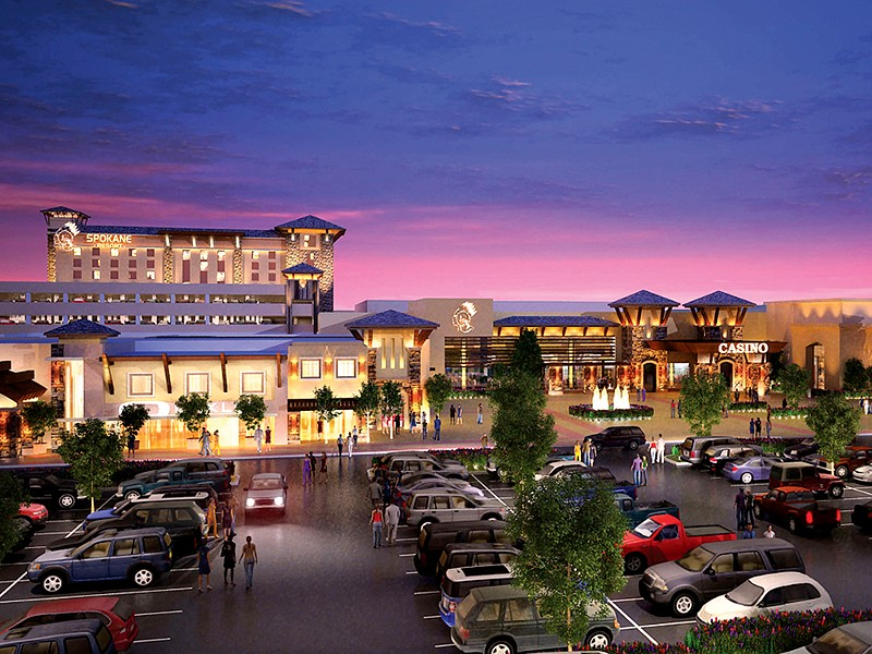 A rendering of the Spokane Tribe's proposed casino.
