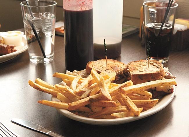 A Reuben sandwich from the Handle Bar. - MEGHAN KIRK