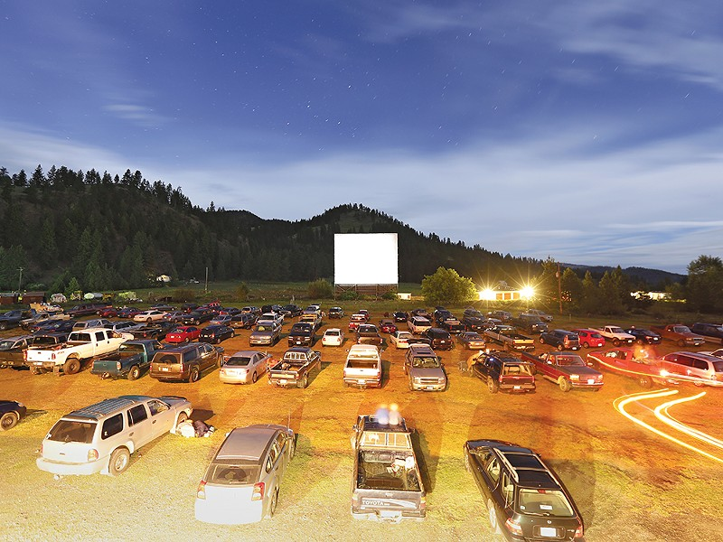 A Saturday night at the Auto Vue Drive In in Colville  earlier this month. - YOUNG KWAK