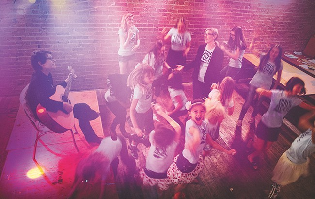 A scene from the first Girls Rock Lab, at INK in August 2014. - KRISTEN BLACK