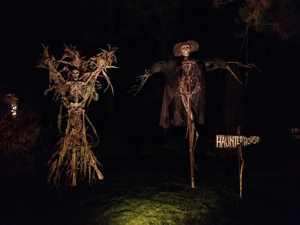 a scene from the king family haunted house open this weekend in north spokane