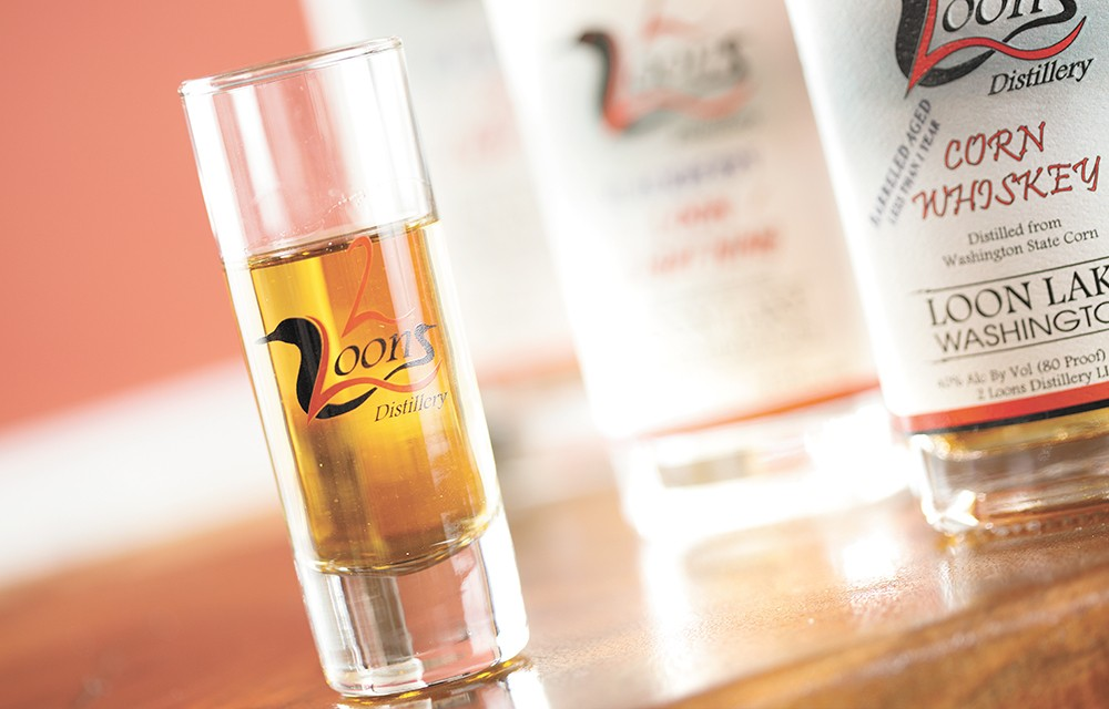 A shot of barrel-aged corn whiskey from 2 Loons Distillery. - YOUNG KWAK