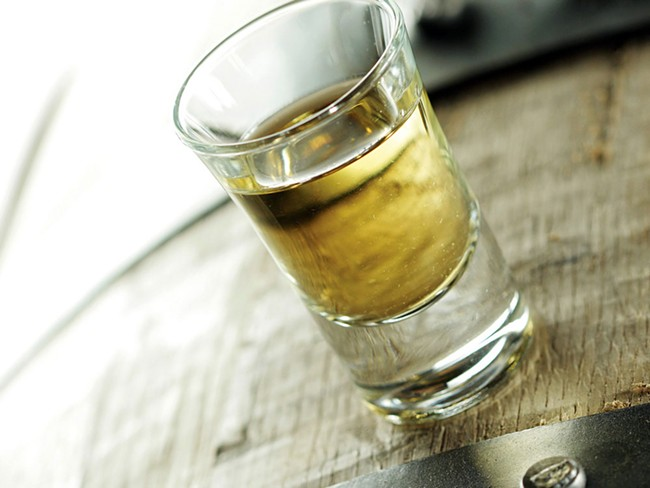 A shot of Dry Fly whiskey, made with Tim Danaher's grain. - YOUNG KWAK