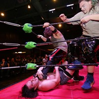 """Spokane Anarchy Wrestling at Swaxx Action during the """"Battle of Washington: Battle Royale."""