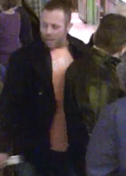Adam Flippen captured in a security camera.