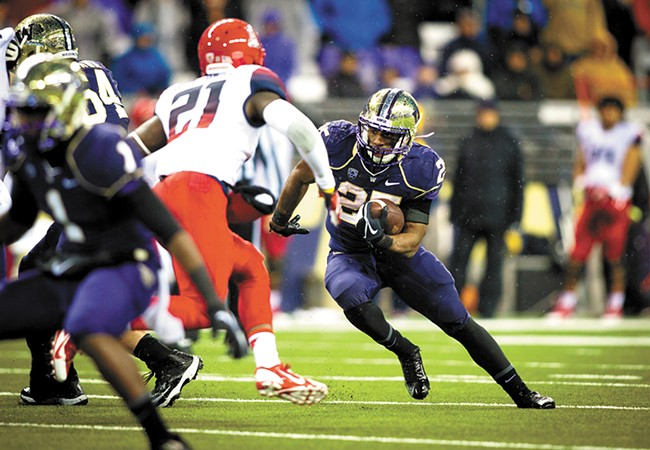 After a stellar career at Gonzaga Prep, Bishop Sankey is taking aim at UW record books.