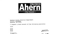 Ahern requests recount