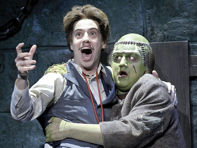 AJ Holmes as Frederick Frankenstein and Rory Donovan as The Monster. - PAUL KOLNIK