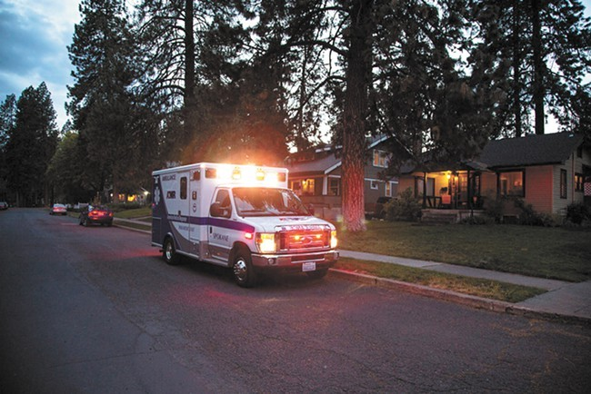American Medical Response currently contracts with the City of Spokane to provide ambulance service - COURTESY OF AMR