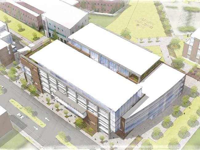 An artist's rendering of Spokane's medical school
