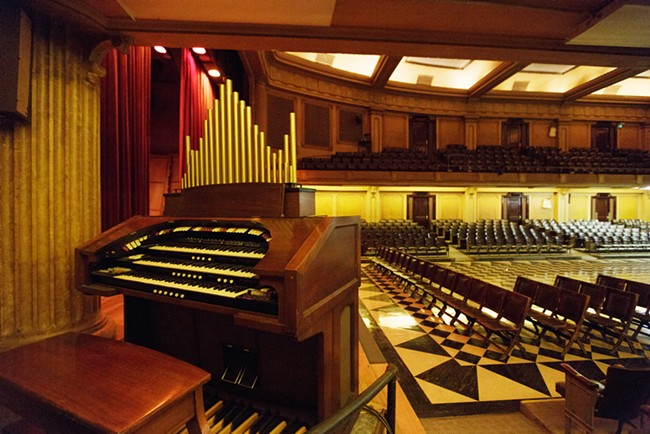 An organ in the Auditorium at the Riverside Event Center. - YOUNG KWAK