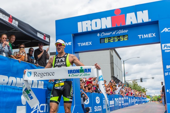 Andy Potts, winner of the 2014 Coeur d'Alene Ironman, finished in 8:25:44. - MATT WEIGAND