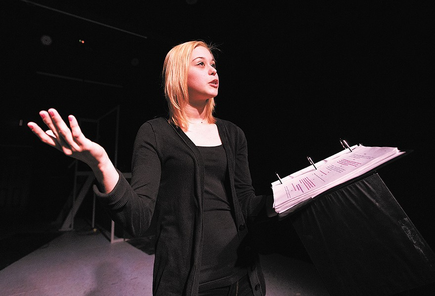 "Anika Bryceson plays the lead character Fifi in the full production of the locally written and produced play, ""The Clink."" - YOUNG KWAK"