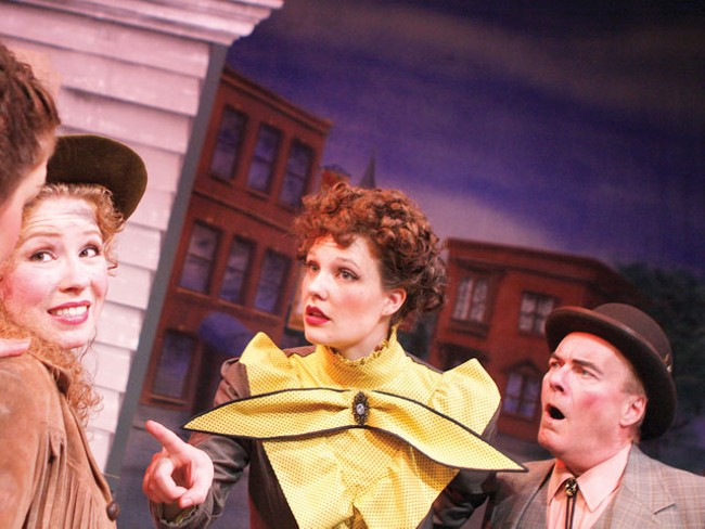 """Annie (Tami Knoell, left) says, """"Get me out of this plot so I can sing."""" - YOUNG KWAK"""