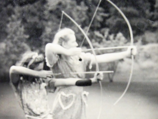 Archery at Camp Four Echoes, circa 1941