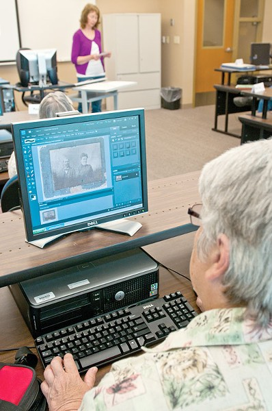 """Ardis Storms loves doing genealogy on the Internet. """"I didnt know if I was capable of learning all this stuff..."""" - AMY HUNTER"""