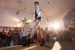 "Ariel St. Clair walks the runway during ""Mademoiselle,"" produced by Olive + Boone and held at The White Room on Aug. 22."