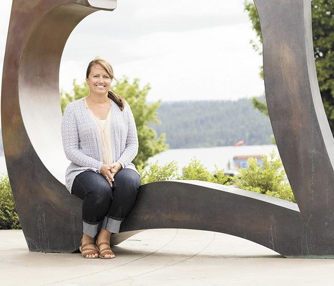"As a lifelong resident with a new mission, Kerri Wilfong fits comfortably into ""The Coeur."" - YOUNG KWAK"
