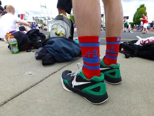 As talked about last week, Strideline socks were everywhere this weekend. The Spokane skyline is becoming well known. - The socks were worn by Sean Grady, Spokane native. - MADISON BENNETT