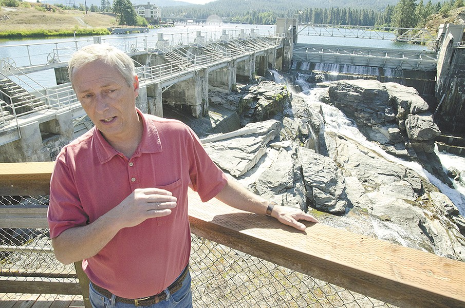 Avista's Speed Fitzhugh says a 2009 license now determines how much water passes through the Post Falls dam. - JACOB JONES