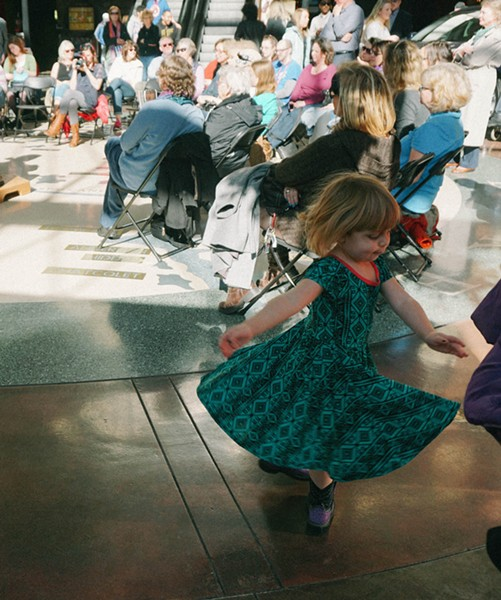 Bailey's performance inspires a young girl to twirl. - COURTNEY BREWER